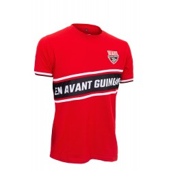 T SHIRT ROUGE A BANDES