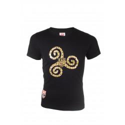 T shirt Femme Triskel Noir