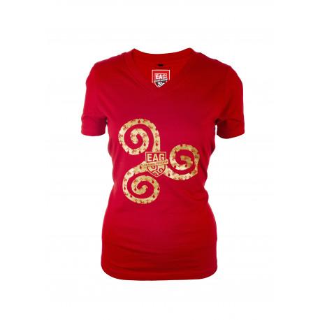 T shirt Femme Triskel Rouge